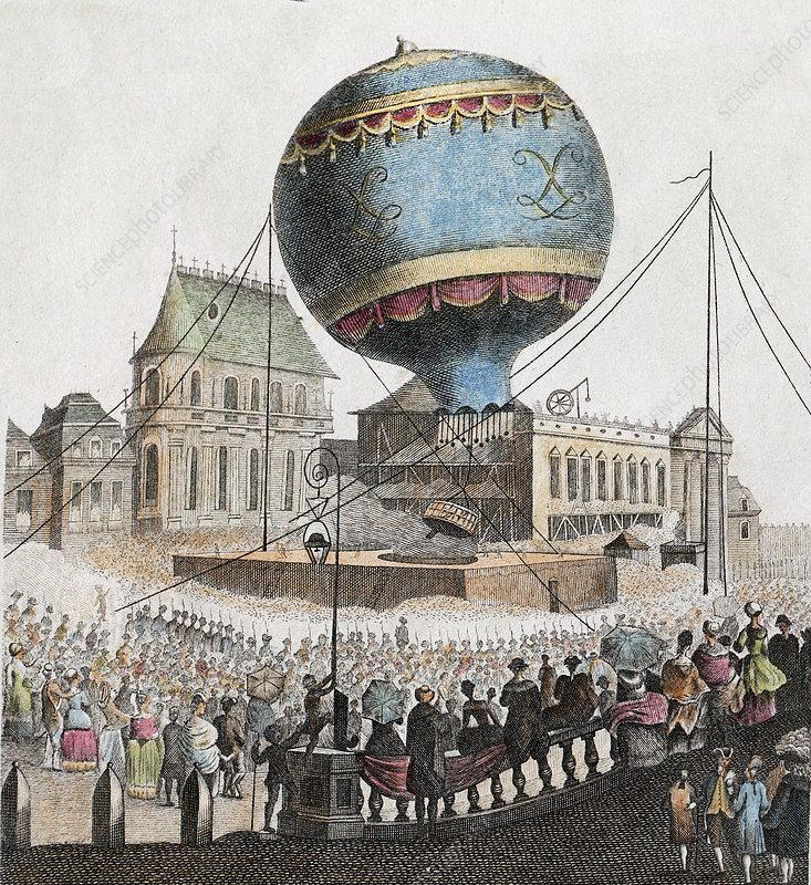 1783 Montgolfier First ascent Balloon