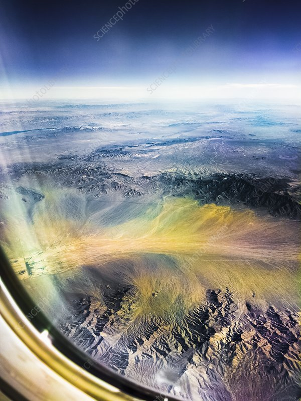 View from aeroplane over Arizona, USA