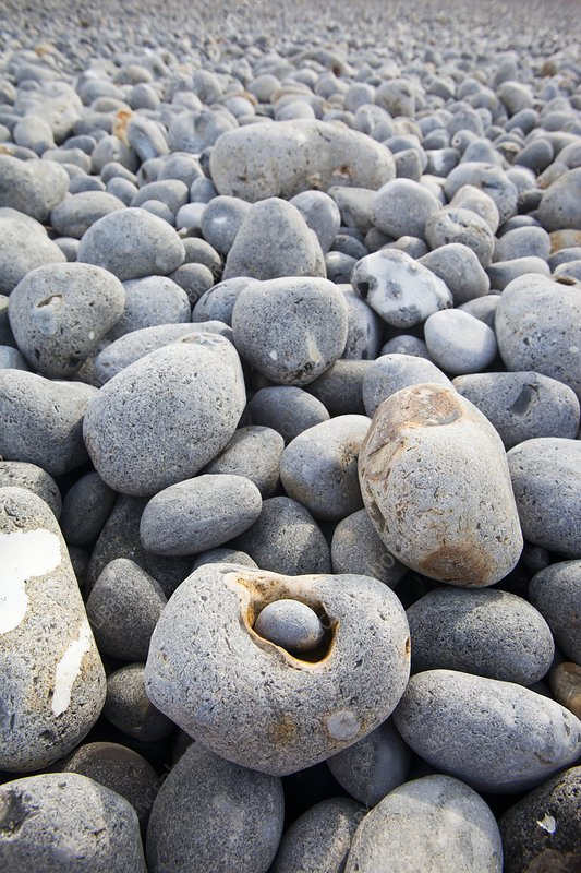 Flint pebbles on Sheringham beach, UK