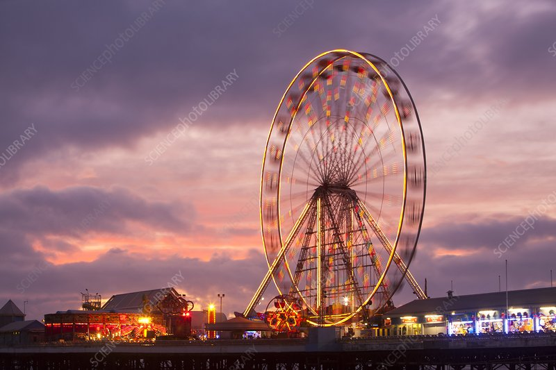 A ferris wheel on the South Pier