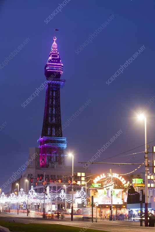 Blackpool Tower illuminated