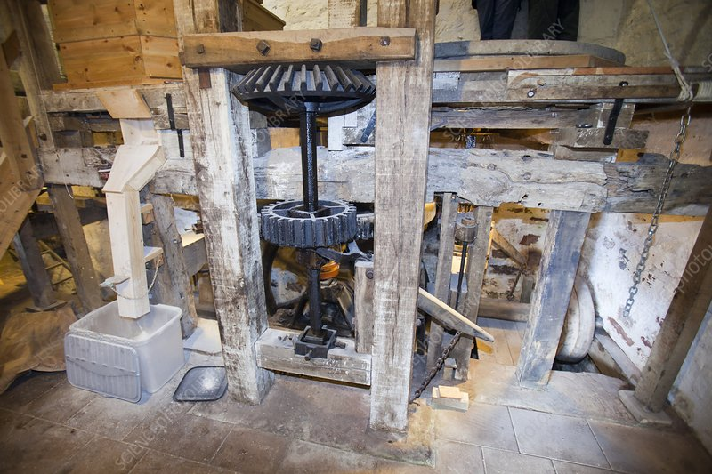 A traditional water mill at Acorn Bank