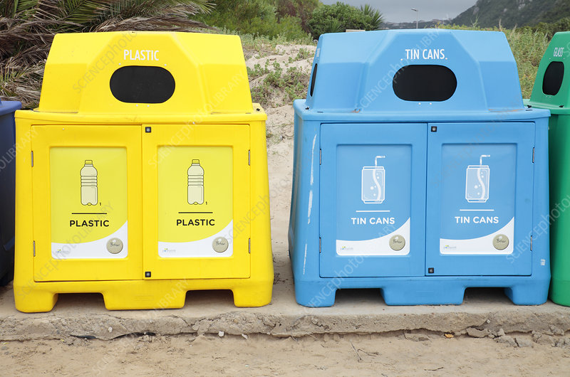 Recycling bins, South Africa