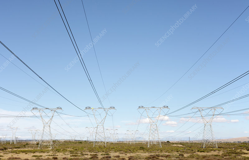 Power lines, South Africa