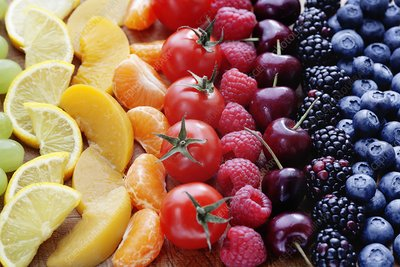 Colouful selection of fruit
