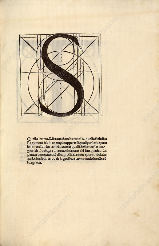Geometrical letter 'S', 16th century