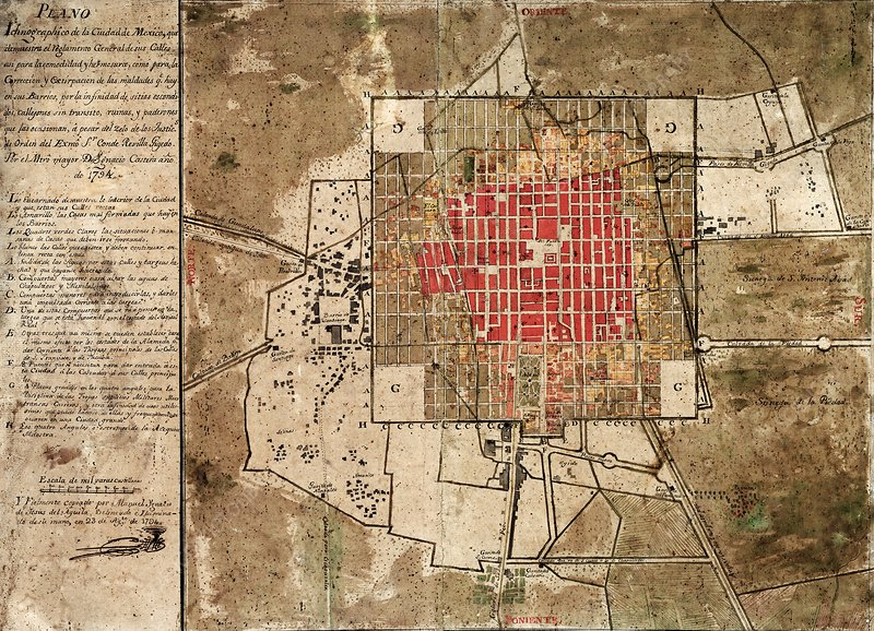 Mexico City urban development, 1794