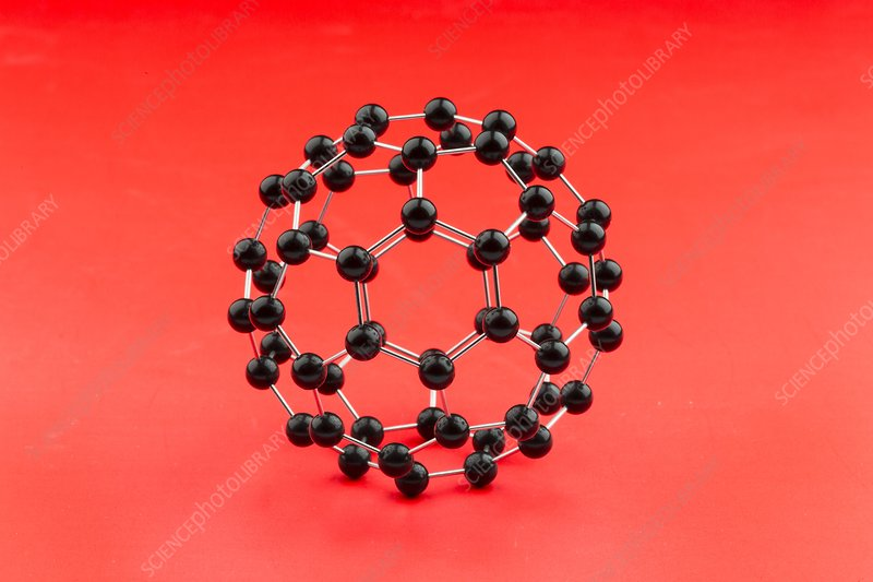 Buckminsterfullerene molecular model.