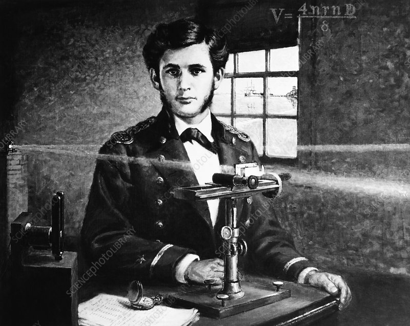 Michelson and his interferometer, 1870s