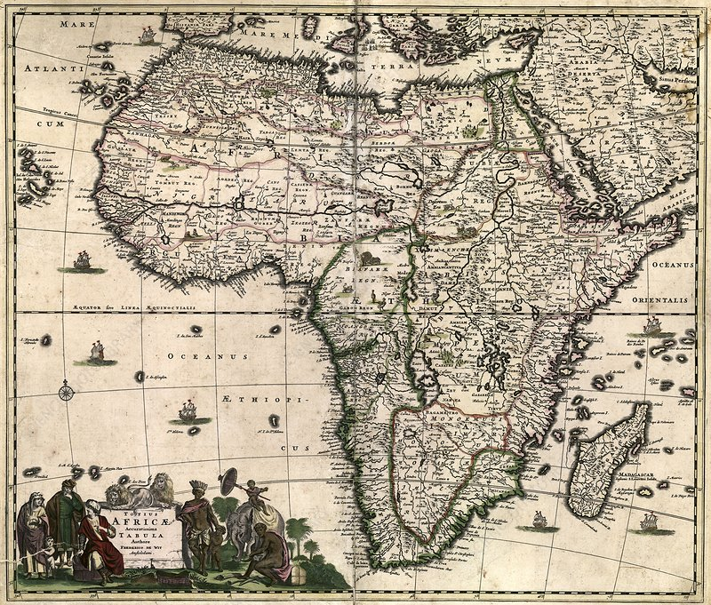 Map of Africa, 1688