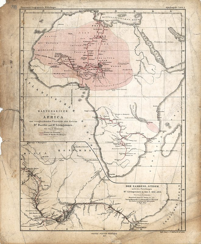 Barth and Livingstone's Africa, 1857