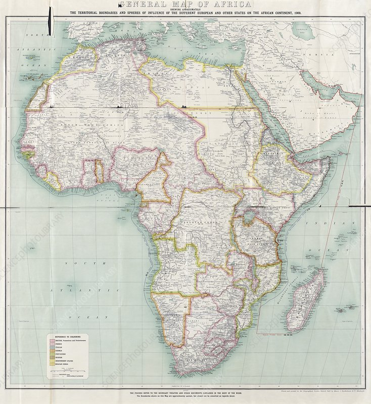 Map of Africa, 1909