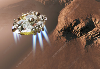 Schiaparelli EDM lander at Mars, artwork