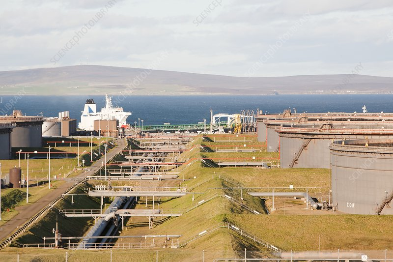 Flotta oil terminal, Orkney, UK