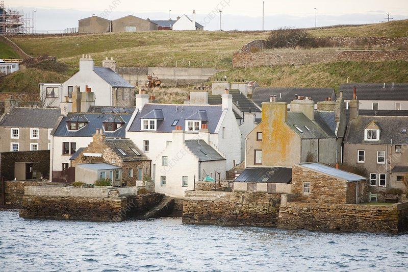 Stromness town and harbour , Orkney, UK