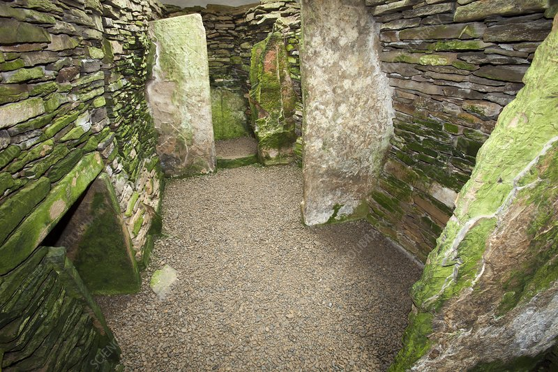 Unstan Chambered Cairn , Orkney, UK