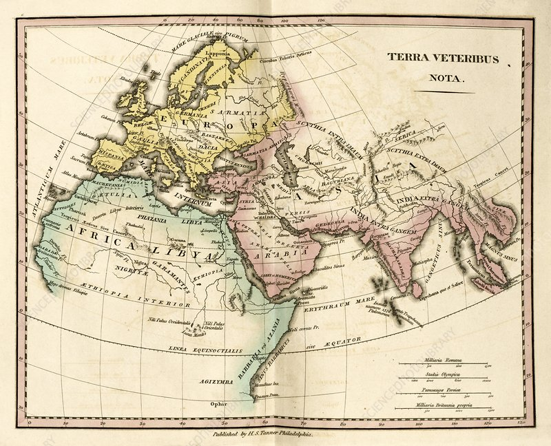 Map of the Ancient World, 19th century