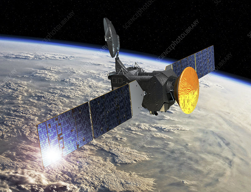 ExoMars spacecraft at Earth, artwork  Stock Image C029/1385  Science