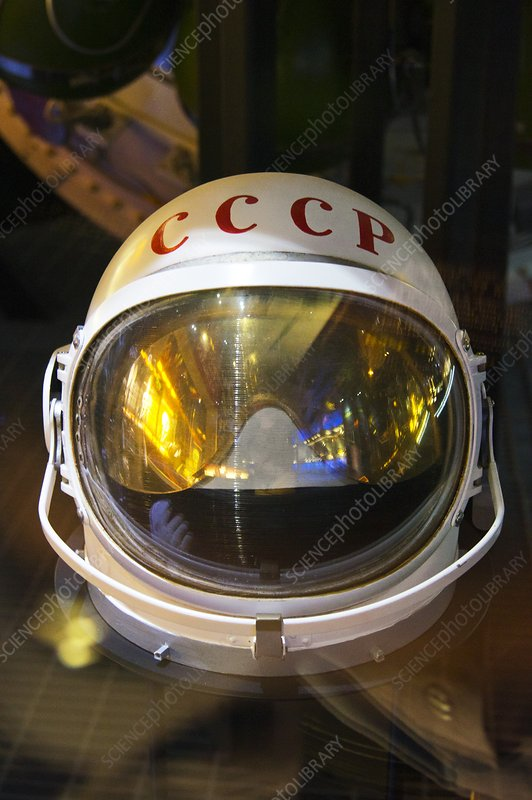 Soviet space helmet.