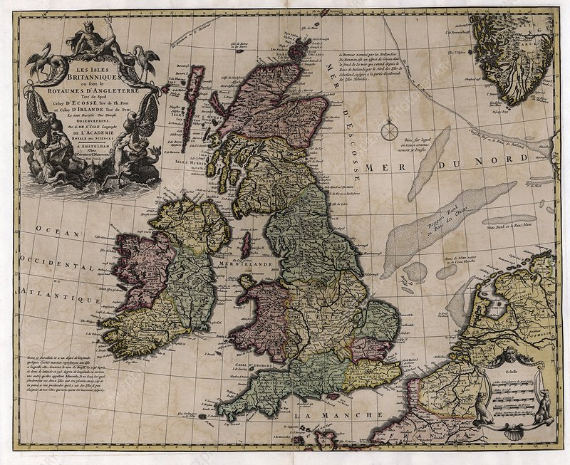 Map of the British Isles, 18th century