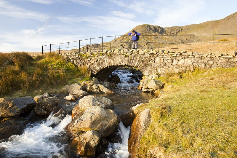 Bridge on the Walna Scar track, UK