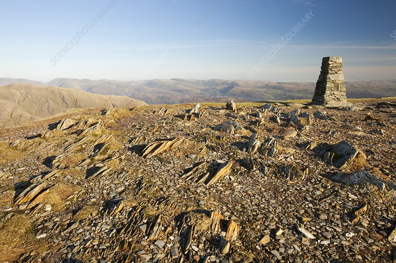 The summit of Coniston Old Man, UK