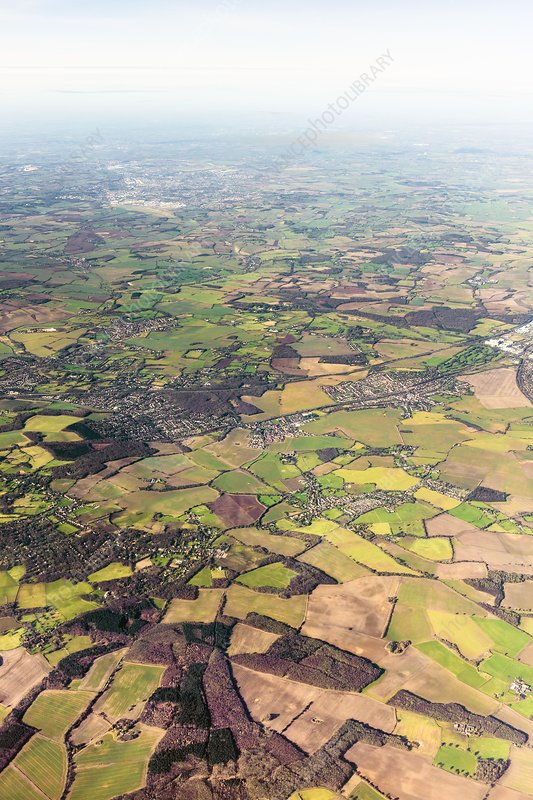 English countryside, aerial photograph