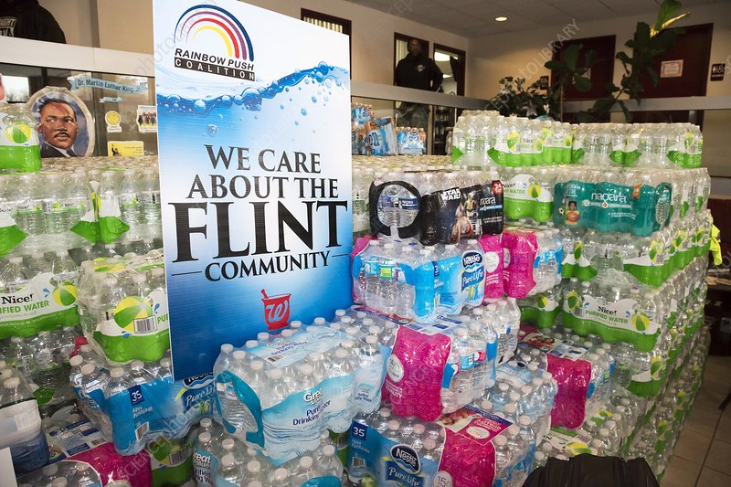 Flint bottled water donation