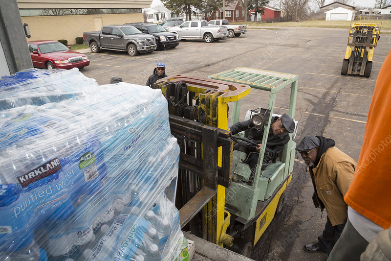 Flint bottled drinking water distribution