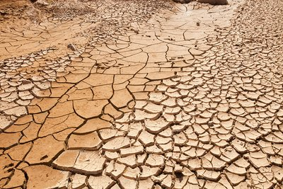 Dry riverbed, Morocco