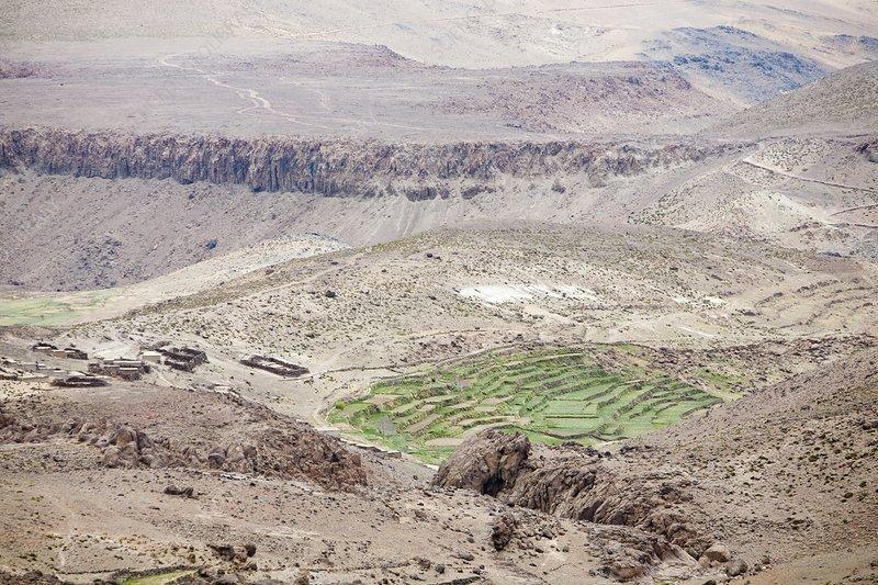 Terraced fields, Morocco