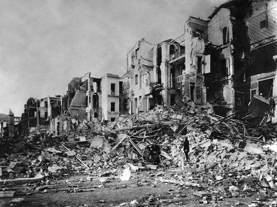 Ruins after Messina earthquake of 1908