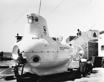 Submersible Alvin at Woods Hole, 1964