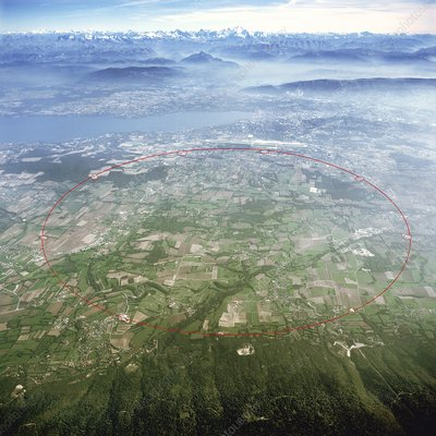 Large Hadron Collider, aerial photograph
