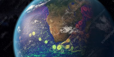 Agulhas ocean currents, southern Africa