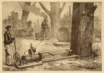 Ransome's tree felling machine