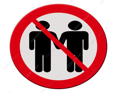 Ban on gay marriage, conceptual image