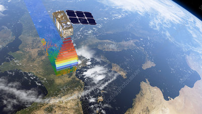 Sentinel-2 satellite in orbit