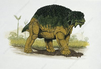 Dinosaur in a forest, illustration