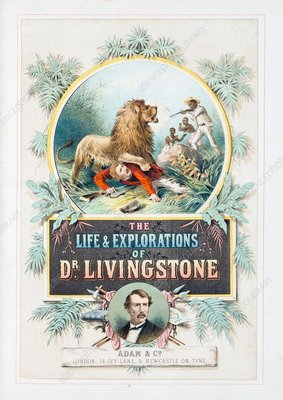 Book about David Livingstone, 1870s