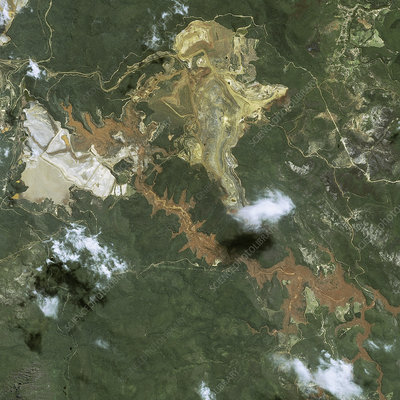 Mariana mining disaster, satellite image