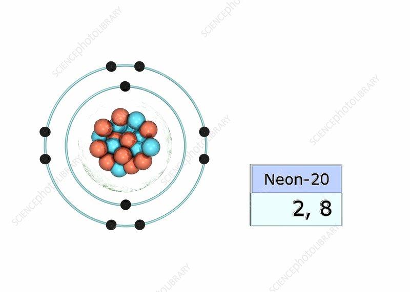 Neon electron configuration - Stock Image C029/5023 ...