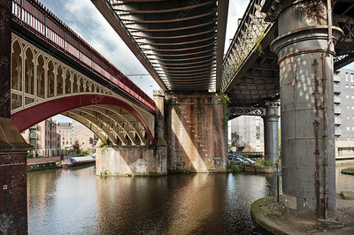 Railway viaducts, Manchester, UK