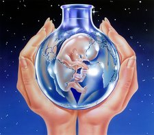In-vitro fertilisation, conceptual image