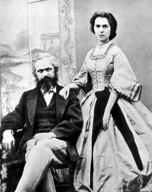 Karl Marx and his daughter Jenny, 1866 - Stock Image - C029/5312 ...