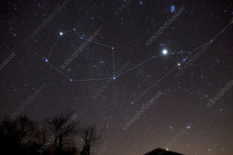 Auriga, Taurus, Jupiter