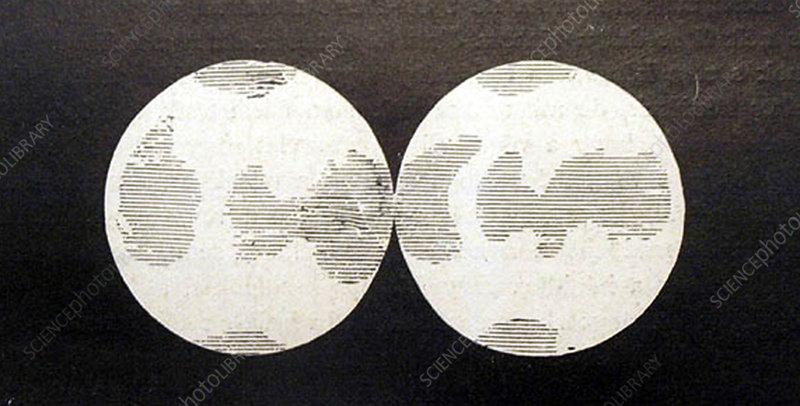 Camille Flammarion Venus Map, 1728 - Stock Image - C029/5564 ... on