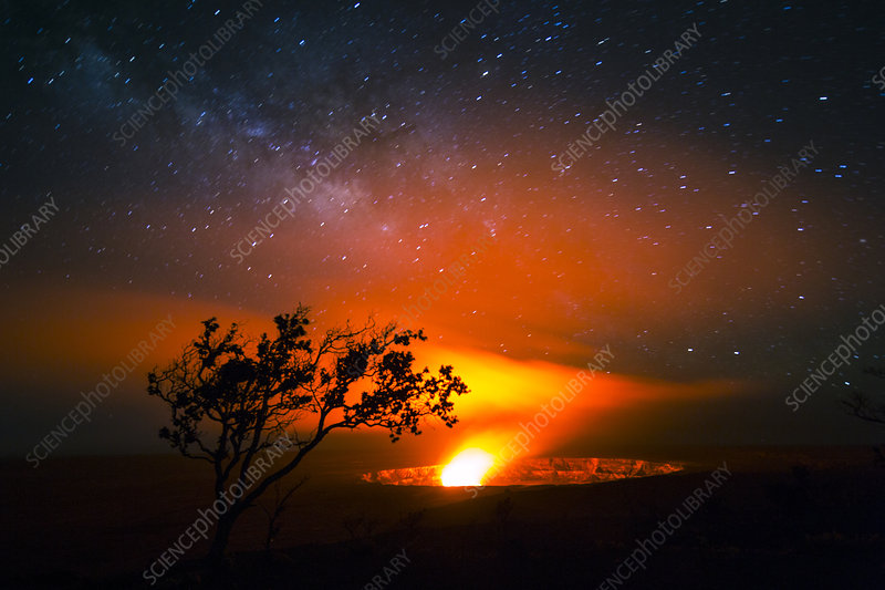 Halemaumau Crater & Milky Way