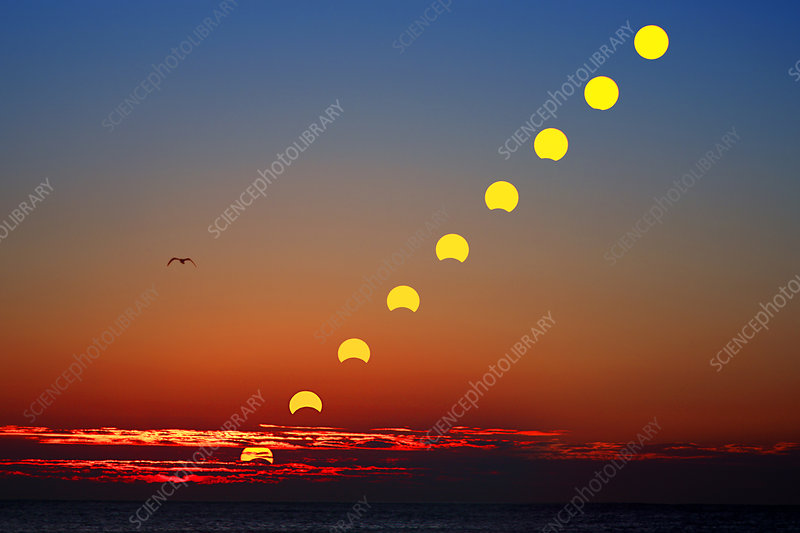 Sunrise Partial Eclipse Sequence
