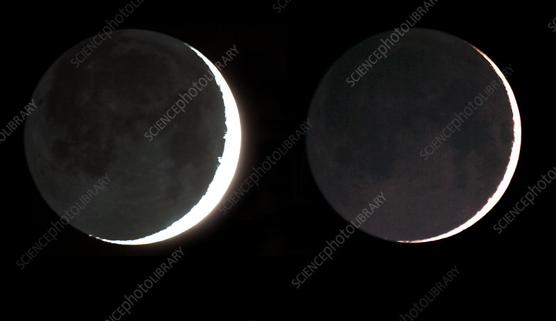 Moon, 1- and 2-Day-Old Moon